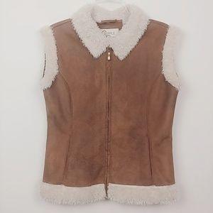 Cripple Creek   faux suede shearling vest